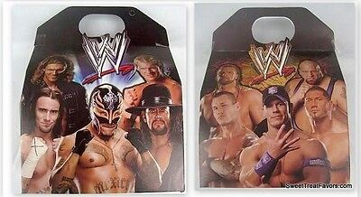 WRESTLING WWE Party Supplies BOXES GABLE Birthday Decoration Cena Bags X6 WWF * • 12.23£