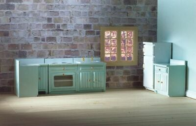 1/12 Scale Dolls House Emporium Fitted Kitchen Set Blue 5pc 5384 • 27.95£