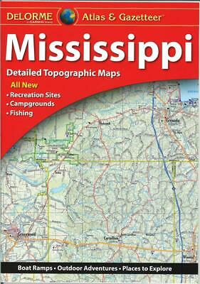 Delorme Mississippi MS Atlas & Gazetteer Map Newest Edition Topo / Road Maps • 17.86£