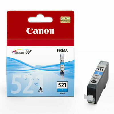 £14.04 • Buy Canon CLI-521C Cyan Ink Cartridge - 505 Pages - 2934B001