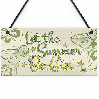 £3.99 • Buy Funny Gin Sign Shabby Chic Home Bar Kitchen Alcohol Plaque Garden Shed Gift