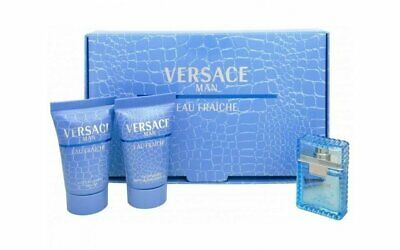 $15.99 • Buy VERSACE MAN Eau Fraiche 0.17 Oz EDT Mini + 25 Ml After Shave & Shower Gel SET