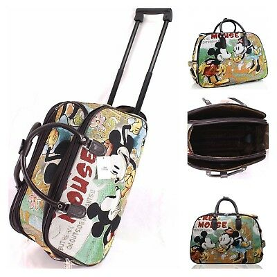 £21.99 • Buy New UK Mickey Mouse Print Flight Approved Size Wheels Travel Bag Holdall/Holiday