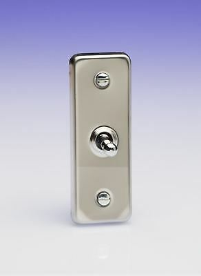 £13.95 • Buy Varilight 1 Gang 1 Or 2 Way 10A Architrave Toggle Light Switch  Polished Chrome