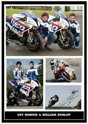 146. Guy Martin & William Dunlop Tt Signed Reproduction Print Size A4 • 5.99£