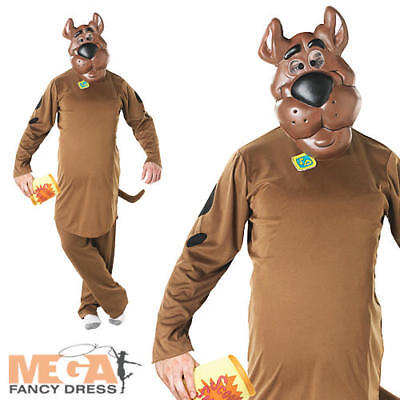 Scooby Doo Fancy Dress Cartoon Dog Mens Adult Halloween Fun Animal Costume - New • 30.99£