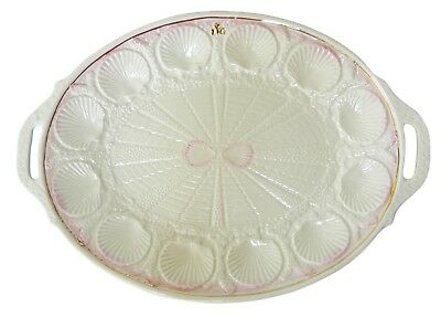Belleek Pottery Founders Collection Armstrong Oval Handled Serving Tray 14 In L  • 126.50£