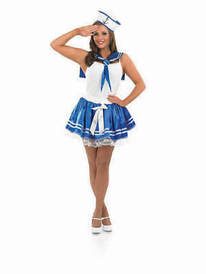 Sassy Sailor Adult Fancy Dress Costume Great For Nautical Party Hen • 9£