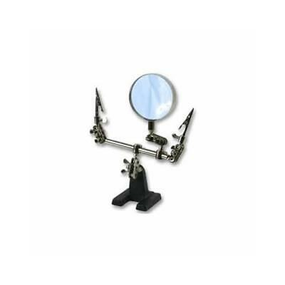 Third Hand Magnifier Model Making Jewellery Clamp Vice • 10.99£