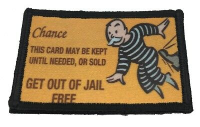 $7.99 • Buy Get Out Of Jail Free Monopoly Morale Patch Tactical Military Army Flag Badge USA