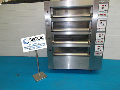 Tom Chandley 8 Tray 4 Deck Low Crown Oven -stock No P519338 - Bakery Equipment • 5,950£