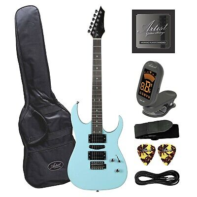 AU179 • Buy Artist AG45 Sonic Blue Electric Guitar Plus Accessories - New