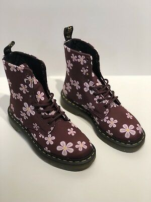NEW Dr. Martens Air Wair Cherry Red 🍒 Meadow Flowers🌸 Canvas Boots Size 6 • 85$