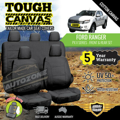 AU219 • Buy Canvas Seat Covers For Ford Ranger PX II Series Dual Cab 06/2015 - On 2 Rows