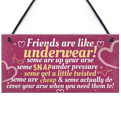 £3.99 • Buy Best Friend Funny Gifts Shabby Chic Plaque Birthday Christmas Gifts For Her