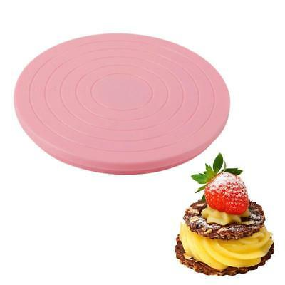 Rotating Icing Revolving Cake Tilting Turntable Decorating Stand Platform LA • 3.65£