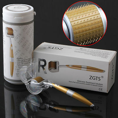 AU8.62 • Buy ZGTS Luxury Microneedle Therapy Derma Roller Titanium Needles Acne Scars Sealed