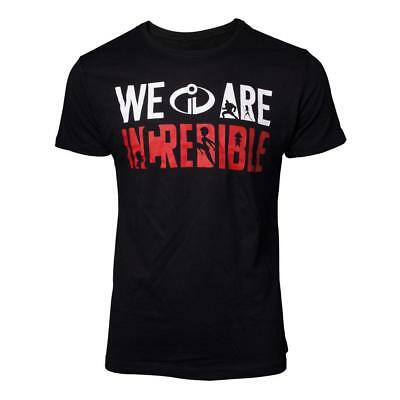 DISNEY The Incredibles 2 We Are Incredible T-Shirt Extra Extra Large Black • 15.69£