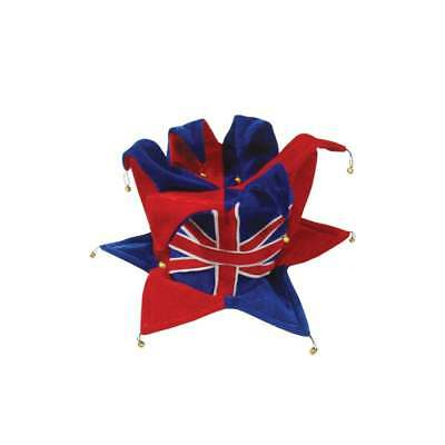 Union Jack Jester Hat - With Bells Top & Bottom • 13.99£