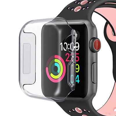$ CDN2.89 • Buy For IWatch 38/42mm Apple Watch Series 4 3 2 1 Screen Protector Clear Case Cover