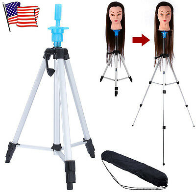 $21.21 • Buy 55  Adjustable Wig Head Stand Tripod Holder Hairdressing Mannequin Head Tripod