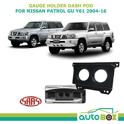 AU82.75 • Buy SAAS Gauge Dash Pod Holder For Nissan Patrol 2004-16 GU Y61 Suits 2x 52mm Gauges