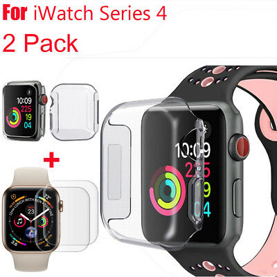$ CDN2.65 • Buy Apple Watch Series 4 Tempered Glass Screen Protector & Soft TPU Case 40/44mm Ou