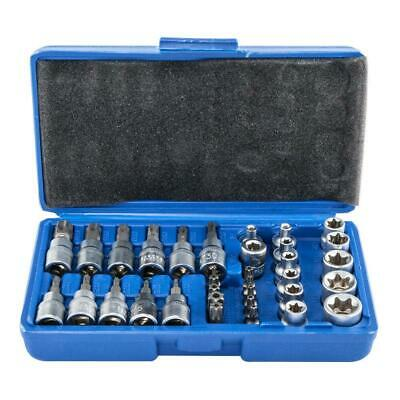 $21.99 • Buy 34 Pc Torx Star Bit External Female E Socket Set Automotive Shop Tools W/ Case
