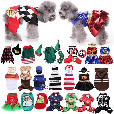 Pets Fancy Jumpsuit Halloween Dog Costumes Clothes Apparel For Puppy Dogs Cats • 4.99£