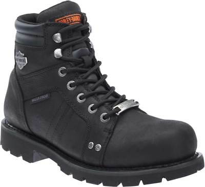 $ CDN120.86 • Buy Harley-Davidson Men's Prestwick Waterproof Black Motorcycle Boots D96134