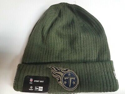 1445ce4e4d5 Tennessee Titans New Era Knit Hat 2018 Salute To Service Green Stocking Cap  • 30.00