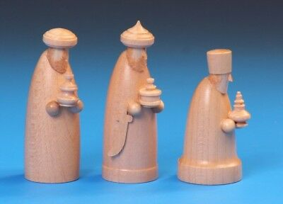Wooden Nativity Scene, The Three Wise Men 12cm Scene From Schalling Of Germany • 34.99£