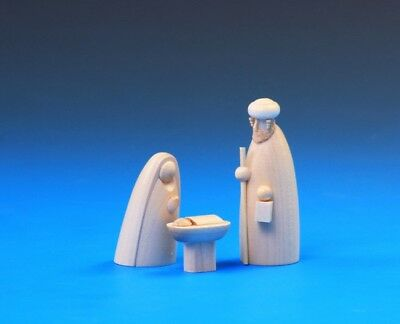Wooden Nativity Scene. The Holy Family Small 6cm Group. Schalling Of Germany • 16.99£