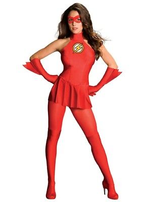 £46.16 • Buy Womens Adult Sexy THE FLASH Red Dress Costume Outfit