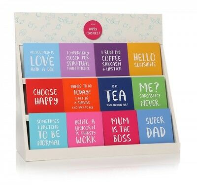 £2.88 • Buy Shruti Happy Single Coaster With Slogan / Sentiment For Most Occasions Funny