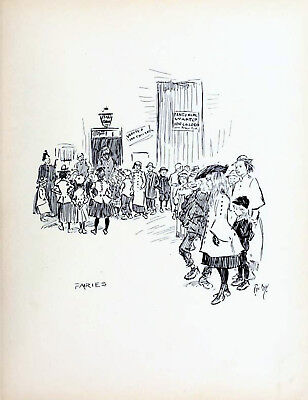 FAIRIES 1896 PHIL MAY Gutter-Snipes Pantomime Audition VICTORIAN CARTOON • 29.50£