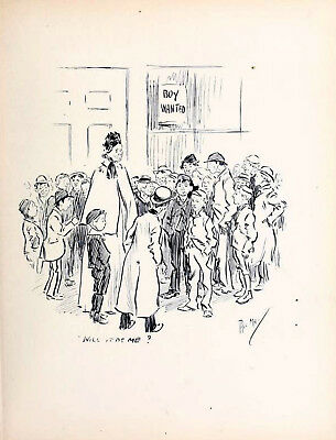 £29.50 • Buy WILL IT BE ME? 1896 PHIL MAY Gutter-Snipes Boy Wanted VICTORIAN CARTOON