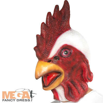 Chicken Mask Adults Fancy Dress Stag Novelty Animal Bird Costume Accessory New • 13.49£