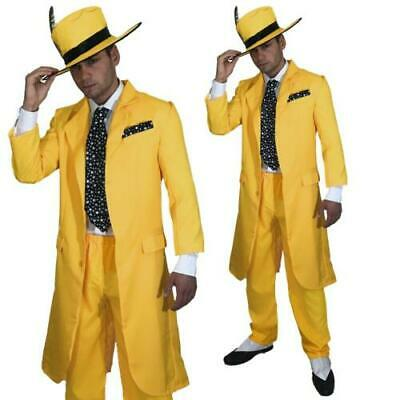 AU35.64 • Buy 90s Yellow Suit Gangster 1920s Suit FANCY DRESS COSTUME MAFIA AL CAPONE MOBSTER