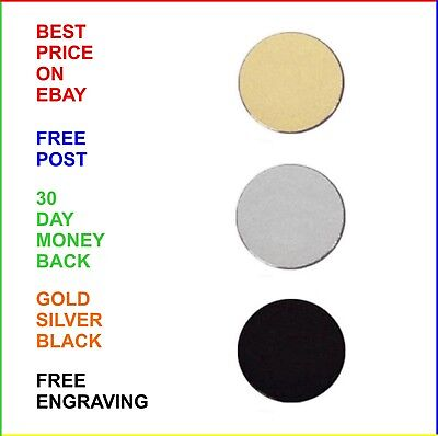 PLAIN METAL CIRULAR DISC: Gold Or Silver: MULTIPLE SIZES: Round Plate For Medals • 3.99£