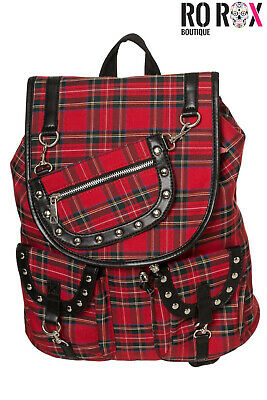 AU57.41 • Buy Banned Yami Punk Nugoth Goth Tartan Check Gingham Work School Bag Uni Backpack