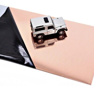 £3.30 • Buy POLISHED COPPER SHEET Square 1.2mm 18's Swg Thick Guillotine Cut New Metal Plate