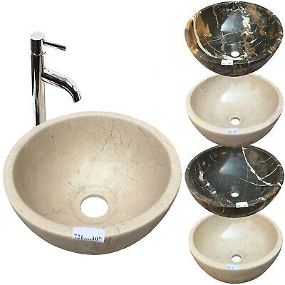 Marble Basin Stone Sink Onyx Bathroom Counter Top Vessel Sink Bowl  • 79.99£