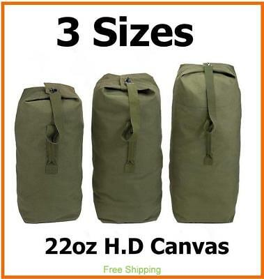 AU44.10 • Buy Heavy Duty Canvas Military Army Duffle Bag Outdoor Sports Rucksack 3 Size Large