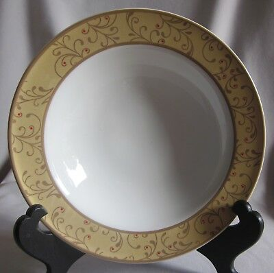 $7.50 • Buy Soup Bowl Roscher & Co. Christmas Scroll Pattern