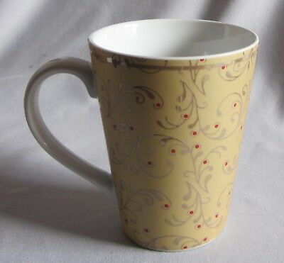$6.50 • Buy Mug Roscher & Co. Christmas Scroll Pattern
