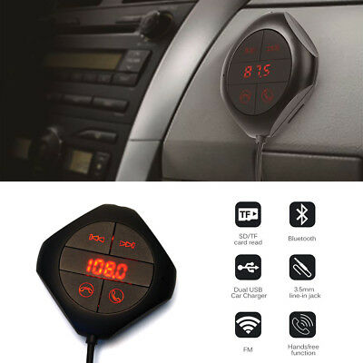 USB Car Kit LCD SD FM Transmitter MP3 Player Magnet Handsfree Wireless Bluetooth • 12.29£