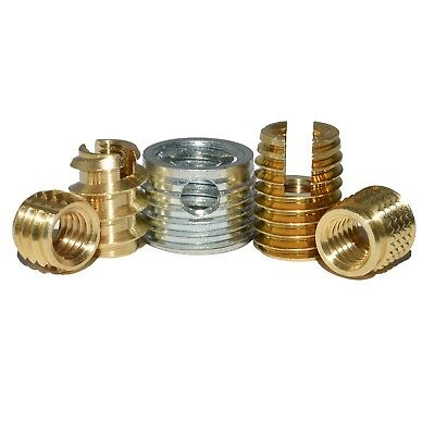 £3.39 • Buy Threaded Inserts For Plastic Alloy And Wood Self Tapping Insert Nuts Brass