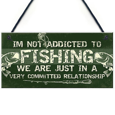 £3.99 • Buy Funny Fishing Gifts Plaque Perfect Birthday Christmas Gifts For Dad Grandad