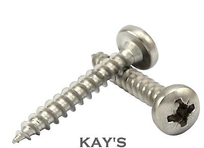 £2.82 • Buy 5mm POZI DRIVE PAN HEAD CHIPBOARD FULLY THREADED WOOD SCREWS A2 STAINLESS STEEL